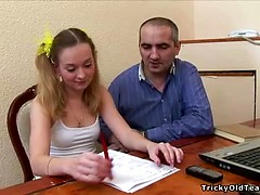 Old teacher does it with an innocent blonde.